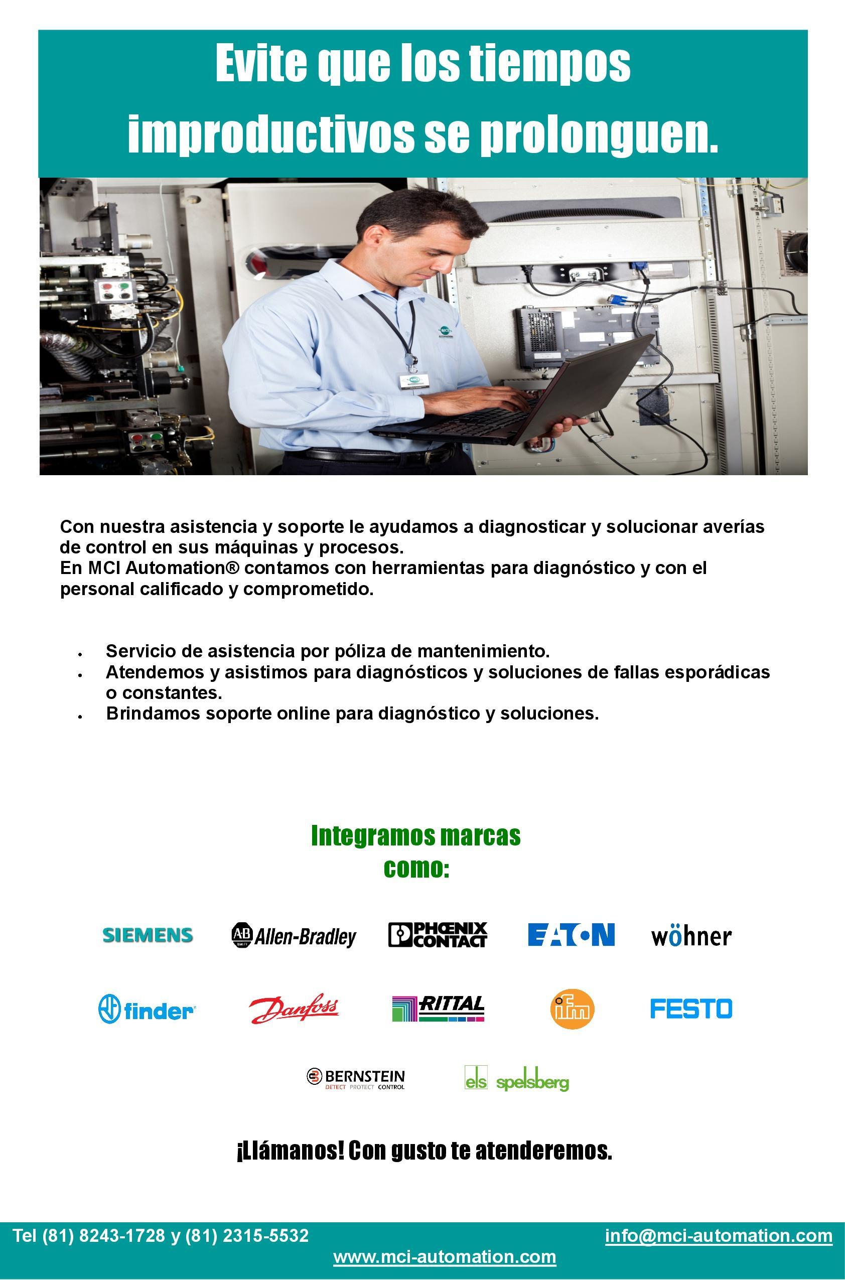 Asistencia tecnica en PLC y HMI